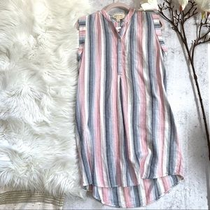 Cloth and stone▪️Long Plaid Sleeveless Shirtdress